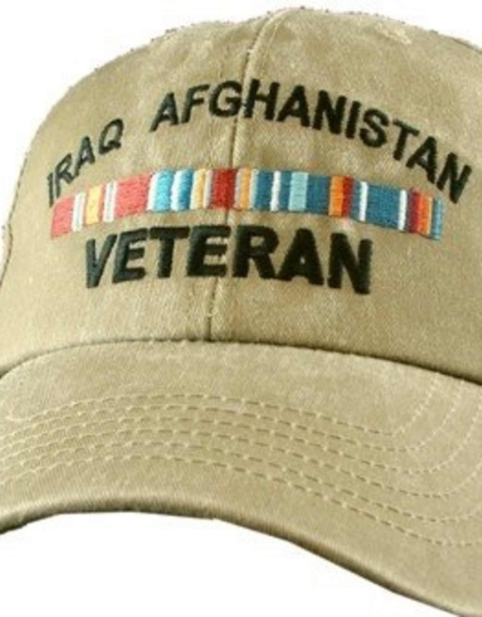 MidMil Iraq Afghanistan Veteran Hat with Ribbons Olive Drab