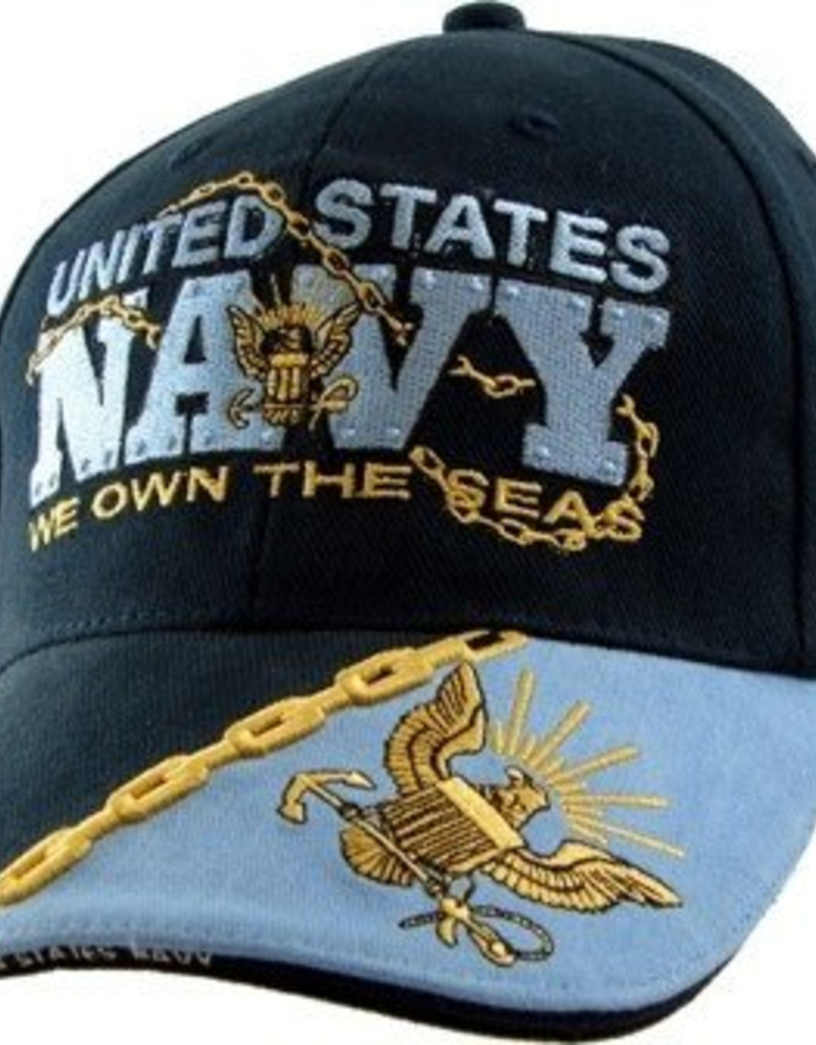 """MidMil United States Navy Hat with """"We Own the Seas"""" Motto Dark Blue"""
