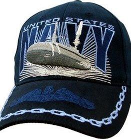 MidMil Navy Submarine Exploding Hat Dark Blue