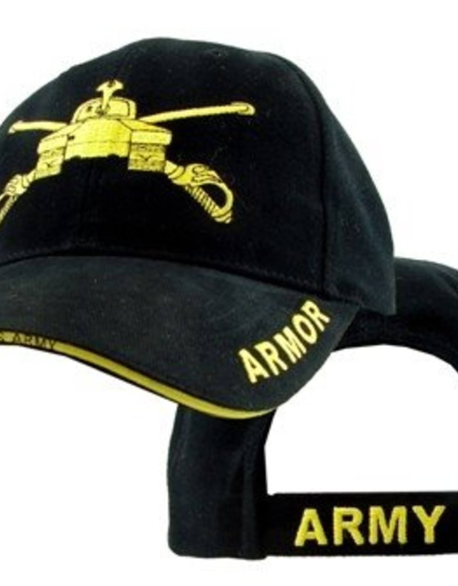 MidMil Army Armor Hat with Emblem and Sandwich Bill Black