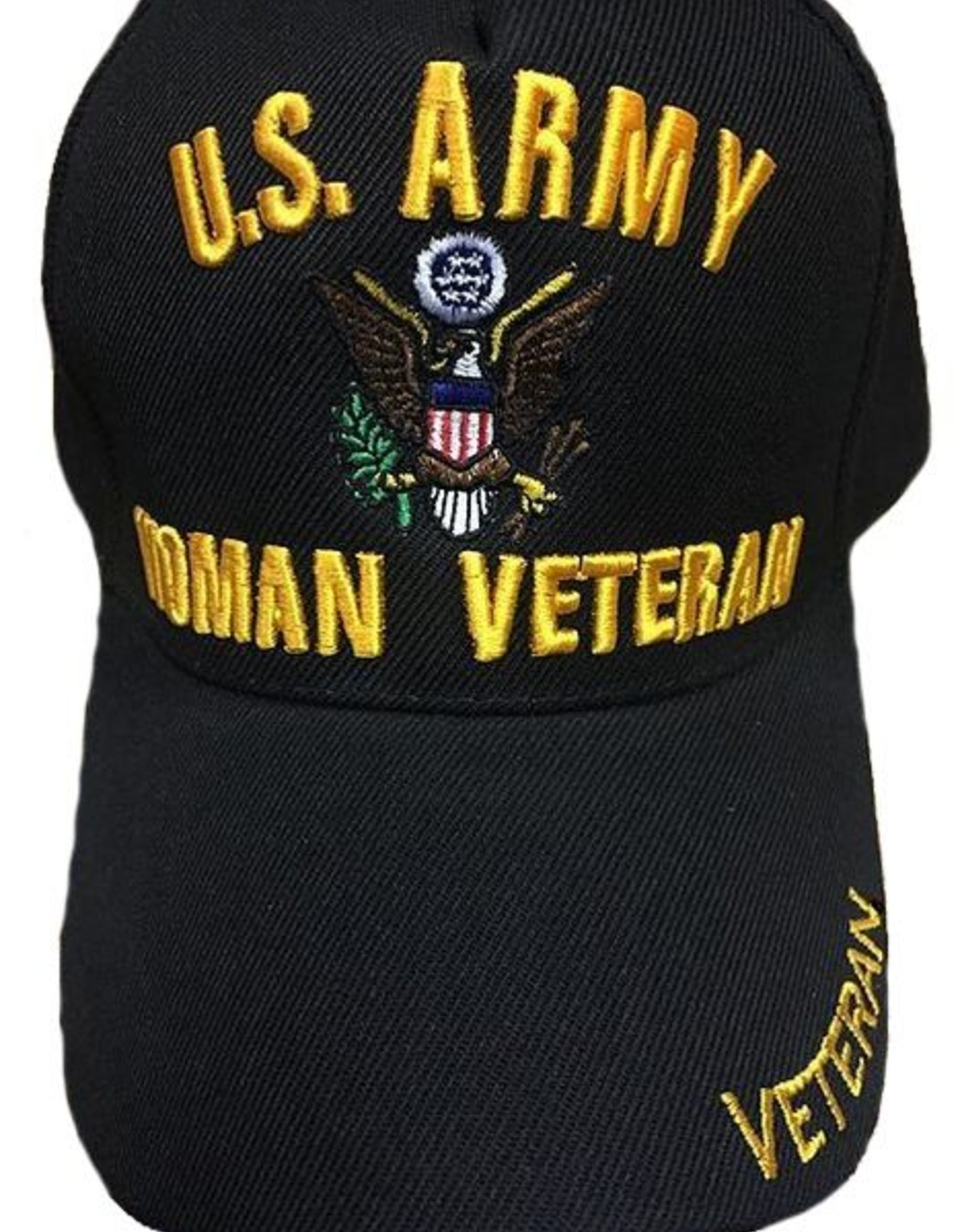 MidMil Army Woman Veteran Hat Black