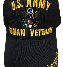 MidMil Army Woman Veteran Hat Black