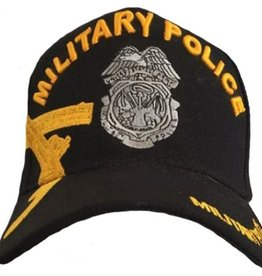 MidMil Army Military Police Hat with Over Shadow and badge emblem Black