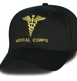 MidMil Army Medical Corps Hat with Caduceus  Black
