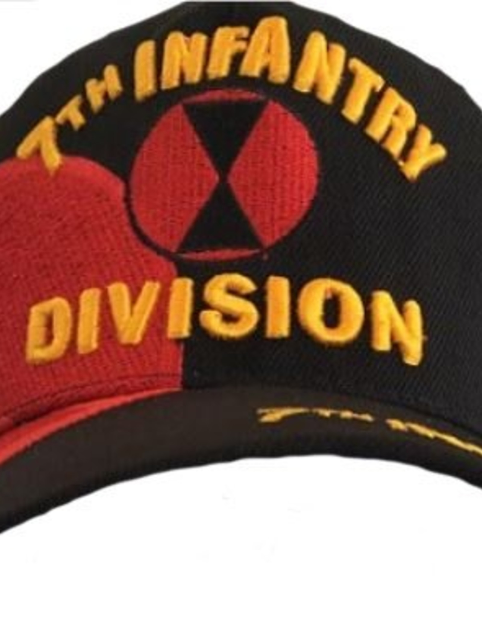 MidMil Army 7th Infantry Division Hat with Emblem and Over Shadow Black