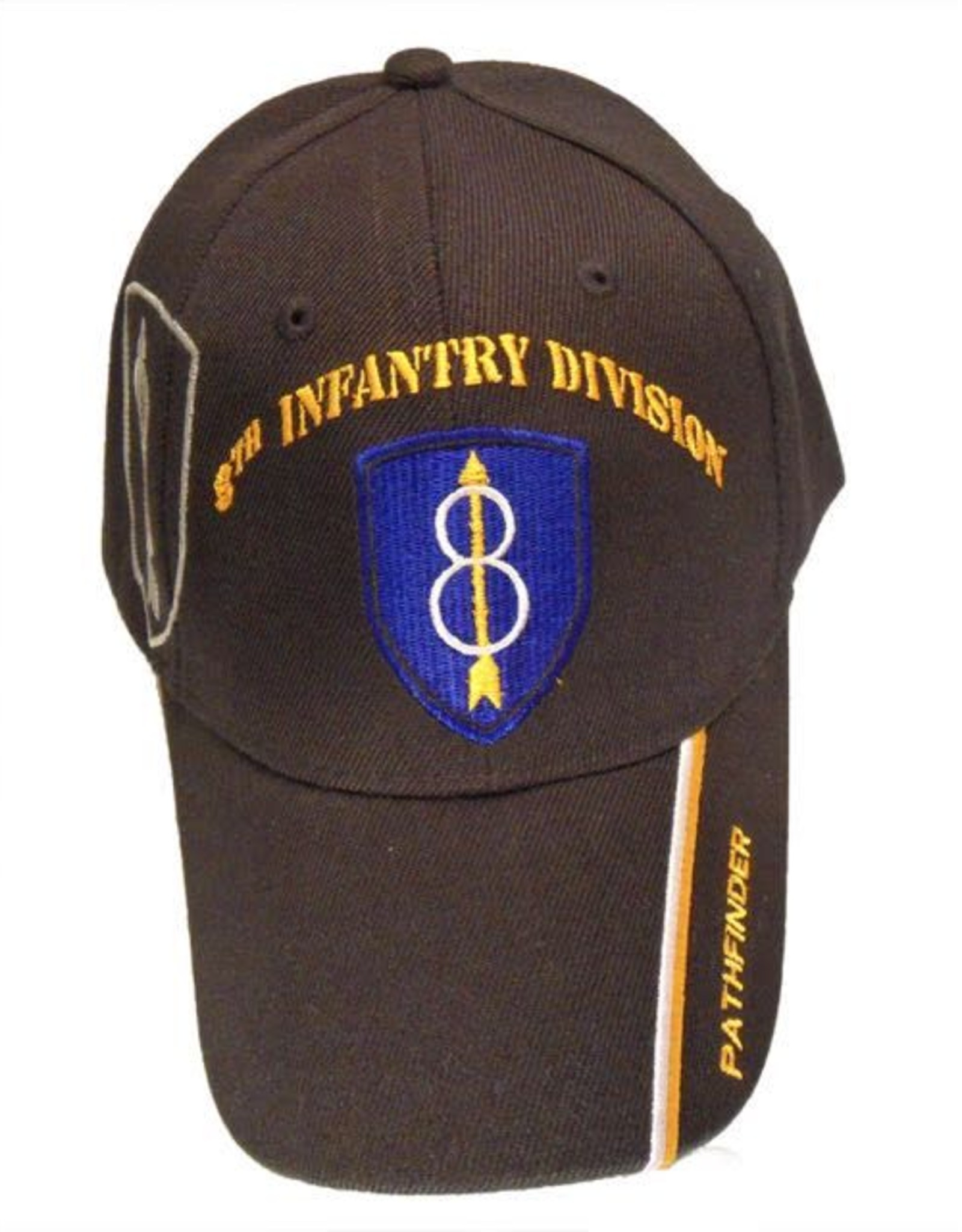MidMil Army 8th Infantry Division Hat with Emblem, Motto and Shadow Black