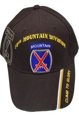 MidMil Army 10th Infantry Division Hat with Emblem and Shadow Black