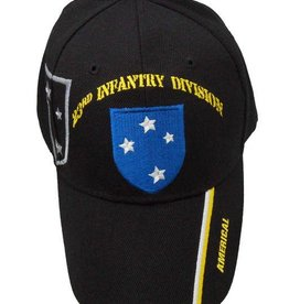 "Army 23rd Infantry Division Hat with Shadow and ""Americal"" on bill Black"