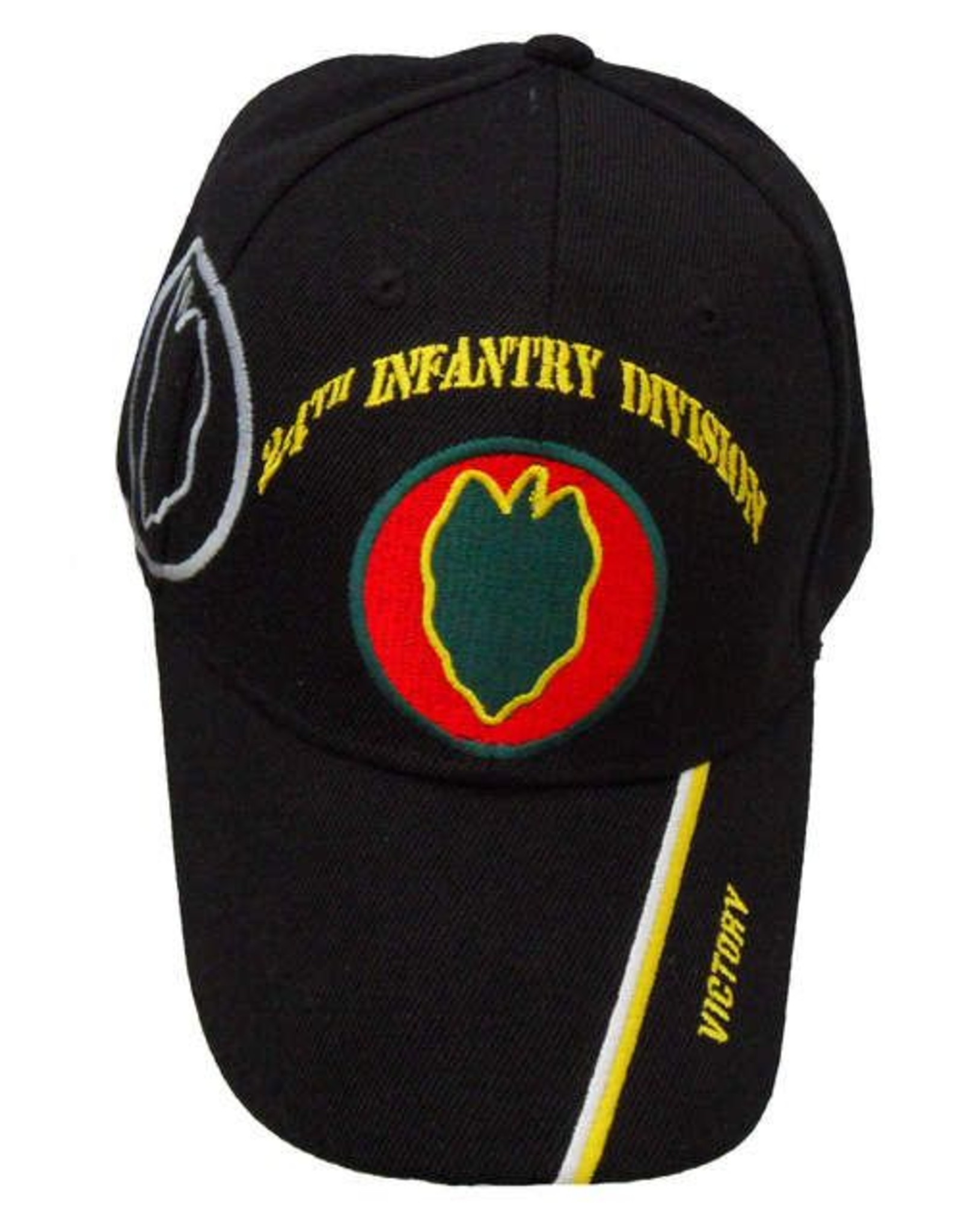 MidMil Army 24th Infantry Division Hat with Emblem, Shadow and Motto Black