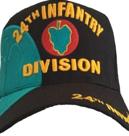 Army 24th Infantry Division Hat with Emblem and Over Shadow Black