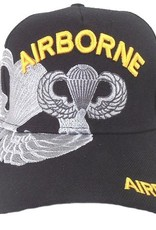 MidMil Army Airborne Hat with Parachute Emblem and Over Shadow Black