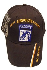 """MidMil Army Airborne 18th Corps Hat with """"Sky Dragons"""" Motto and  Shadow Black"""