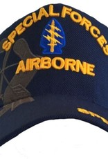 MidMil Army Special Forces Airborne Hat with Arrowhead Emblem and Over Shadow Dark Blue