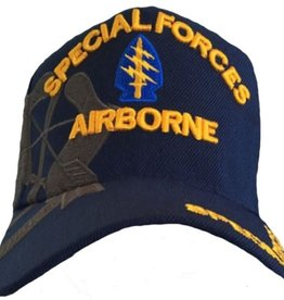 Army Special Forces Airborne Hat with Arrowhead emblem Shadow Over Dk Blue