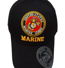 MidMil Marine Hat with Seal and Shadow Black