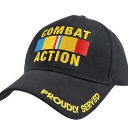 Marine Corps/Navy Combat Action Hat with Ribbon Black
