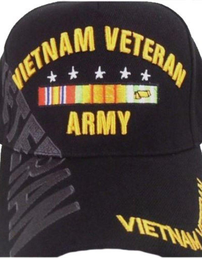 Vietnam Veteran Ribbon NAM Black Baseball Cap