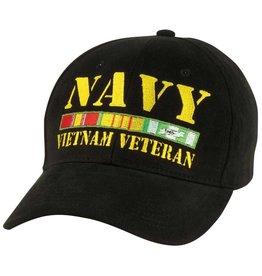Navy Vietnam Veteran Hat with  All Ribbons Black