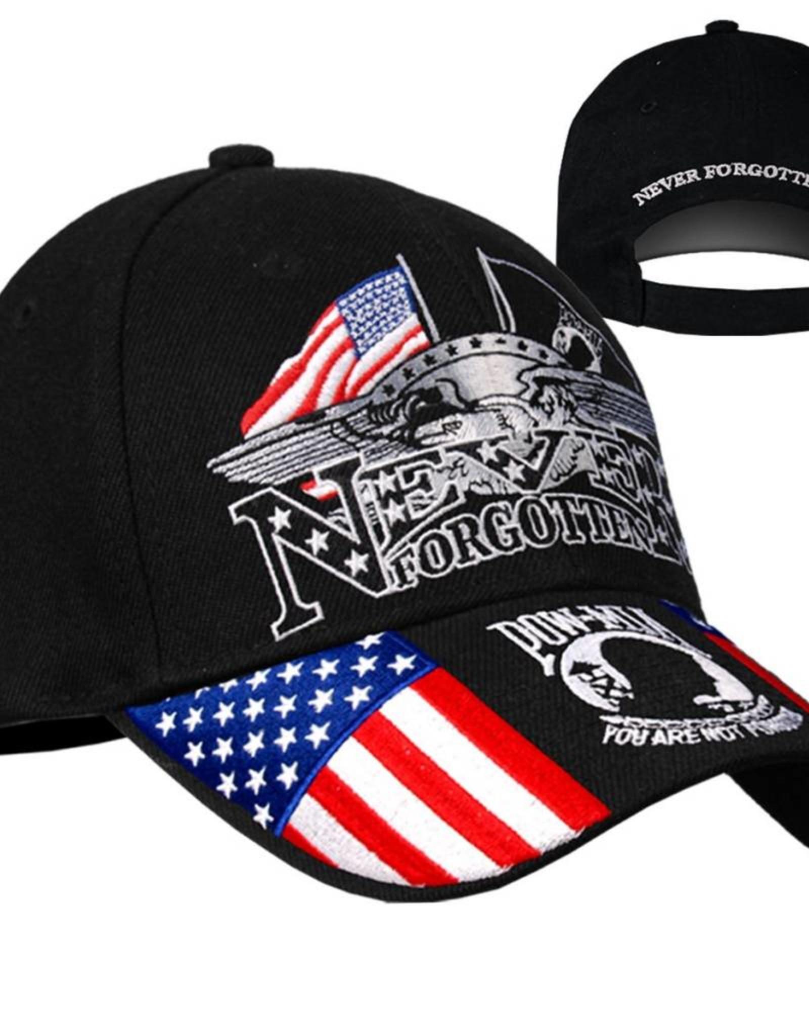 MidMil Iron Eagle Hat with POW-MIA Emblem Black