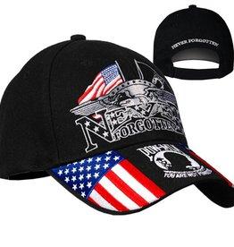 Iron Eagle Hat with POW-MIA Emblem Black