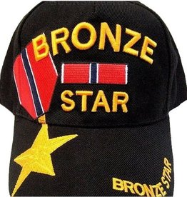 MidMil Bronze Star Medal Hat with Medal over Bill Black