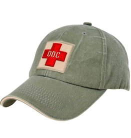 MidMil Navy Doc Hat with Red Cross Olive Drab