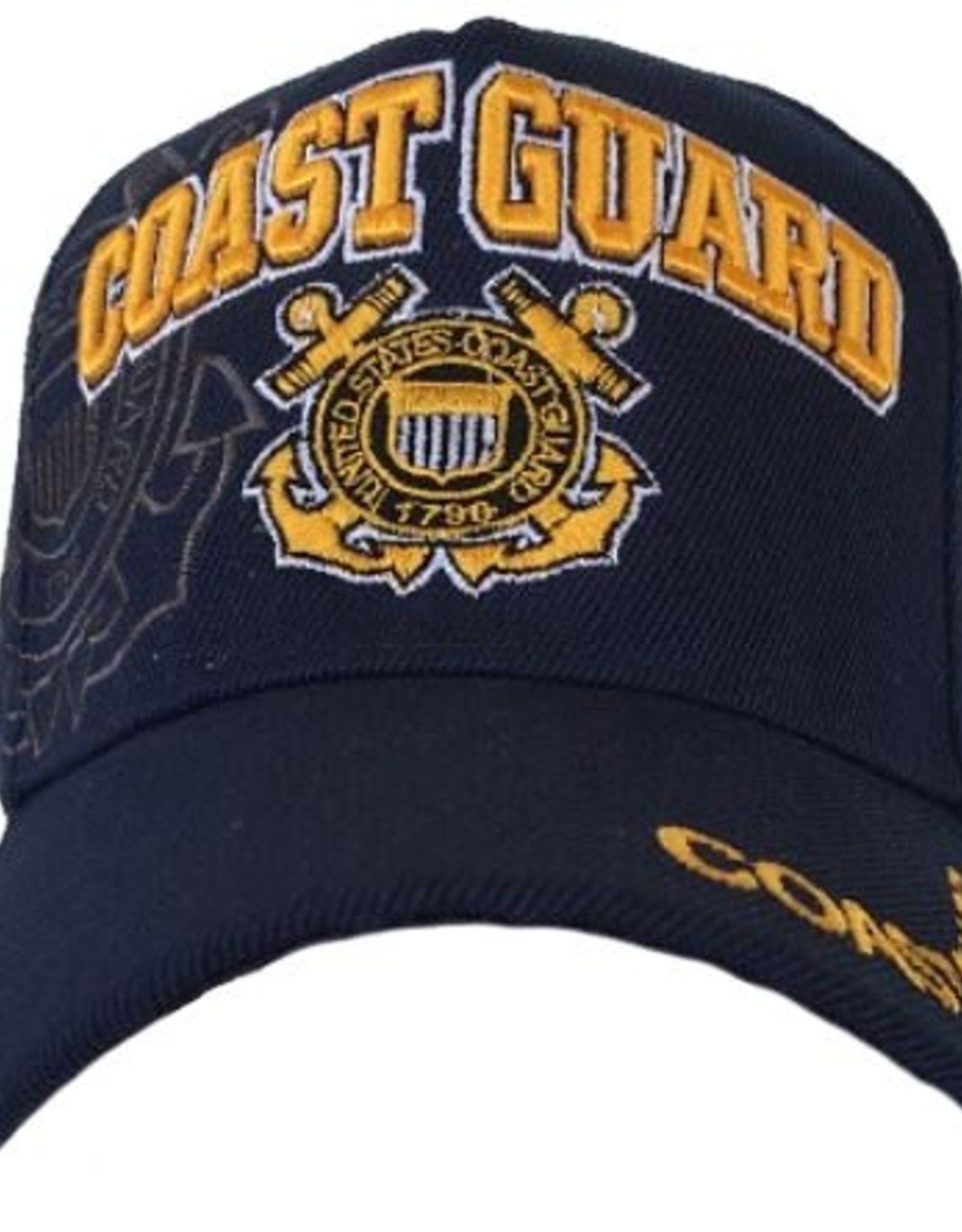 MidMil Coast Guard Hat with Emblem and Shadow Black