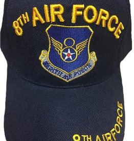 MidMil 8th Air Force Hat with emblem Black