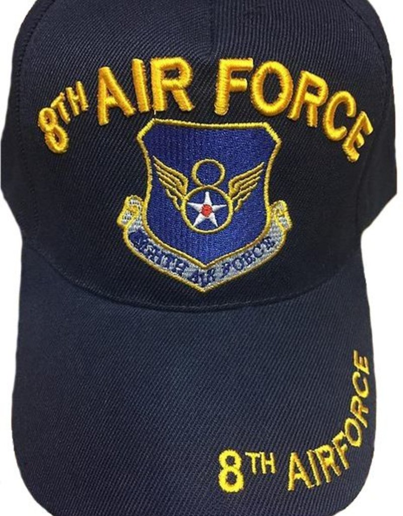 8th Air Force Hat with emblem Black