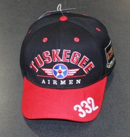 MidMil Tuskegee Airmen Redtails Hat 332nd Squadron  Black/Red