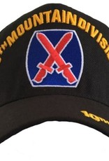 MidMil Army 10th Mountain Infantry Division Hat with Crest Black