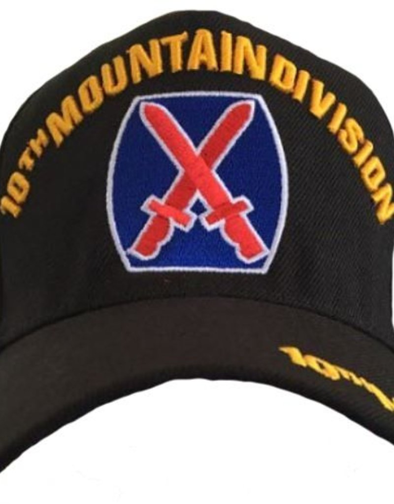 6fd8514240e Army 10th Mountain Infantry Division Hat with Crest Black - Midtown Military