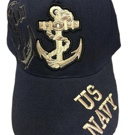 MidMil US Navy Hat with Fouled Anchor Emblem and Shadow Dark Blue