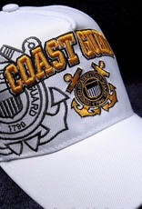 MidMil Coast Guard Hat with Emblem and Shadow White