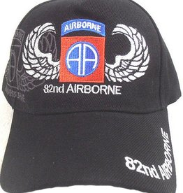 Army 82nd  Airborne Division Hat with Emblem and Shadow Black