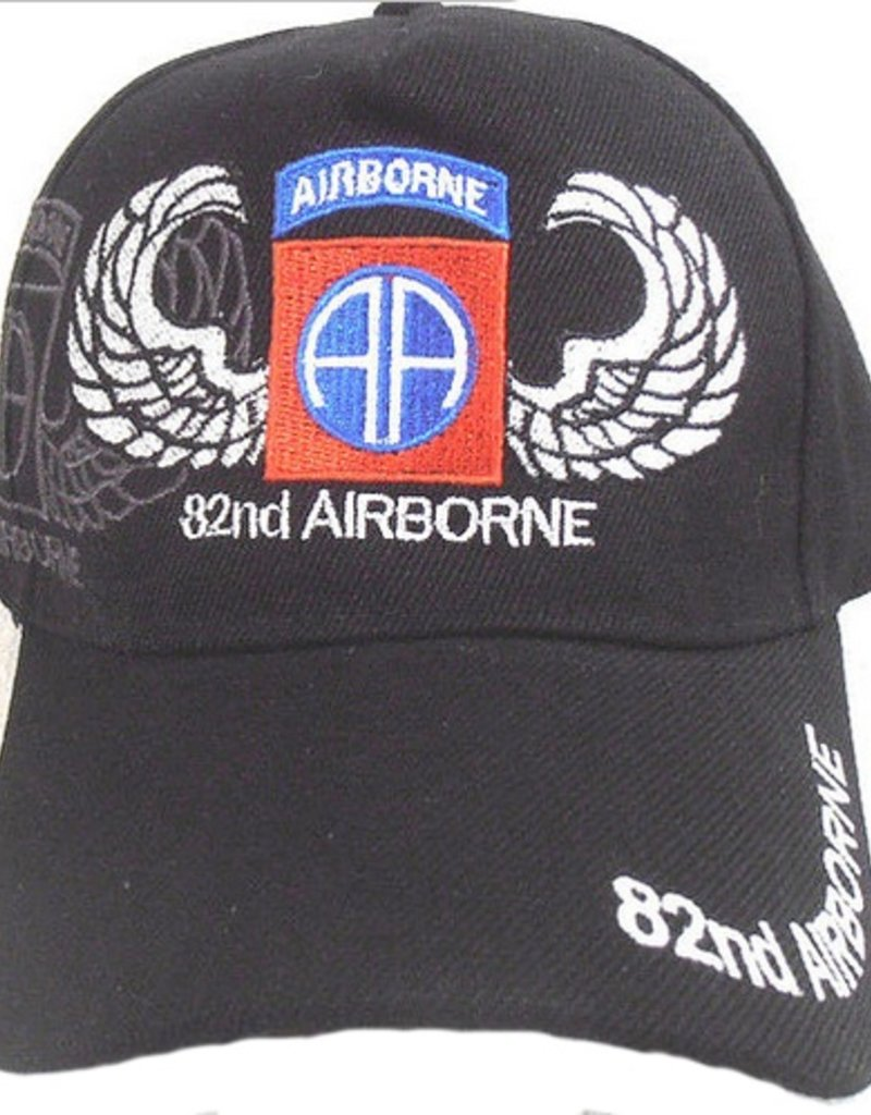 201bb7bc275 Army 82nd Airborne Division Hat with Emblem and Shadow Black - Midtown  Military