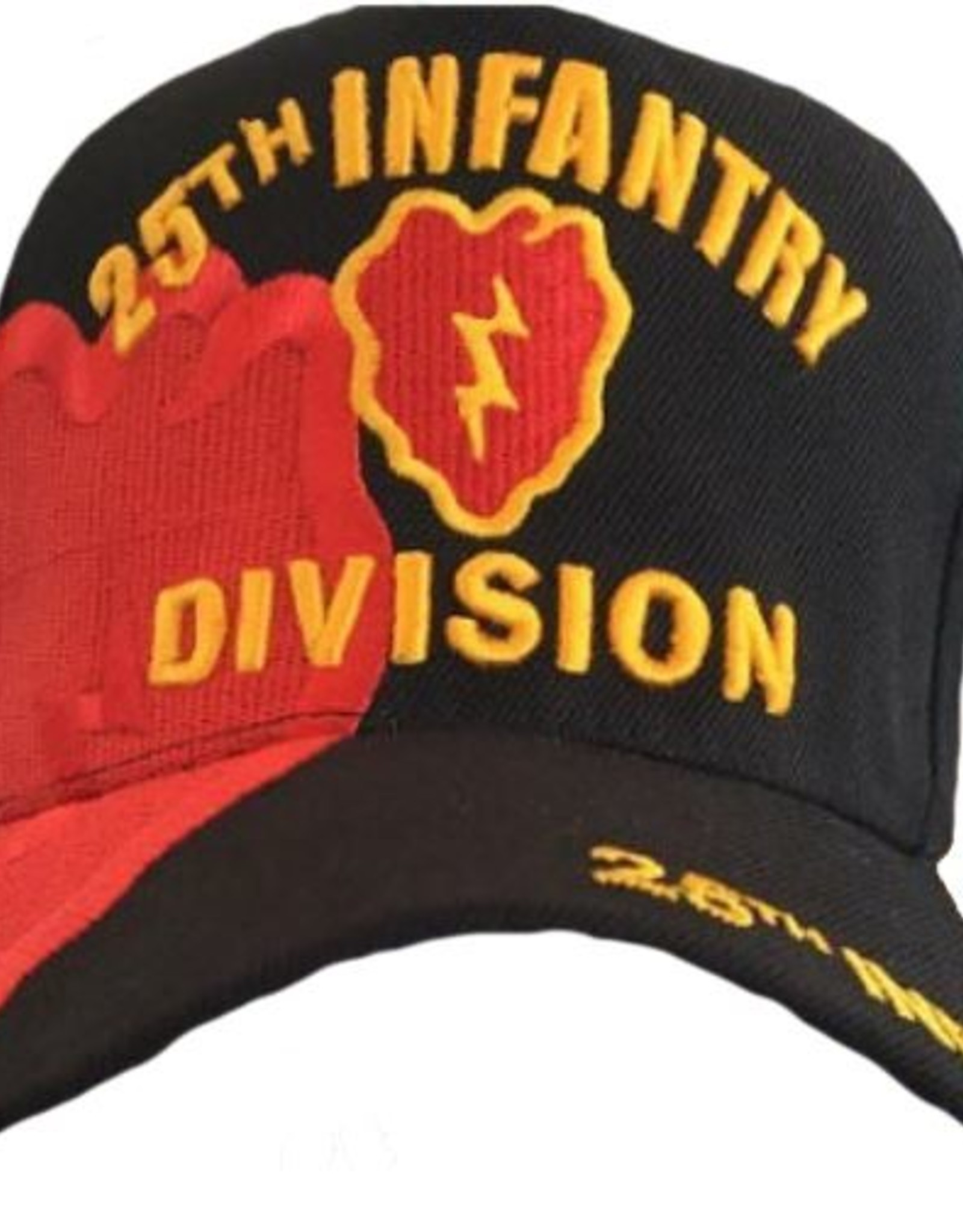 MidMil Army 25th Infantry Division Hat with emblem and Over Shadow Black