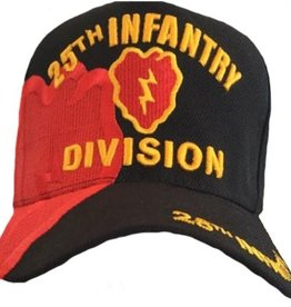 MidMil Army 25th Infantry Dvision Army Hat with emblem and Over Shadow Black