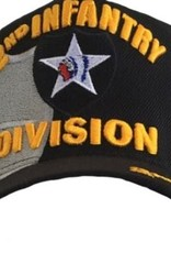 MidMil Army 2nd Infantry Division Hat with Emblem and Over Shadow Black