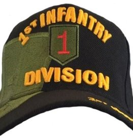 Army 1st Infantry Division Hat with Emblem and Over Shadow Black