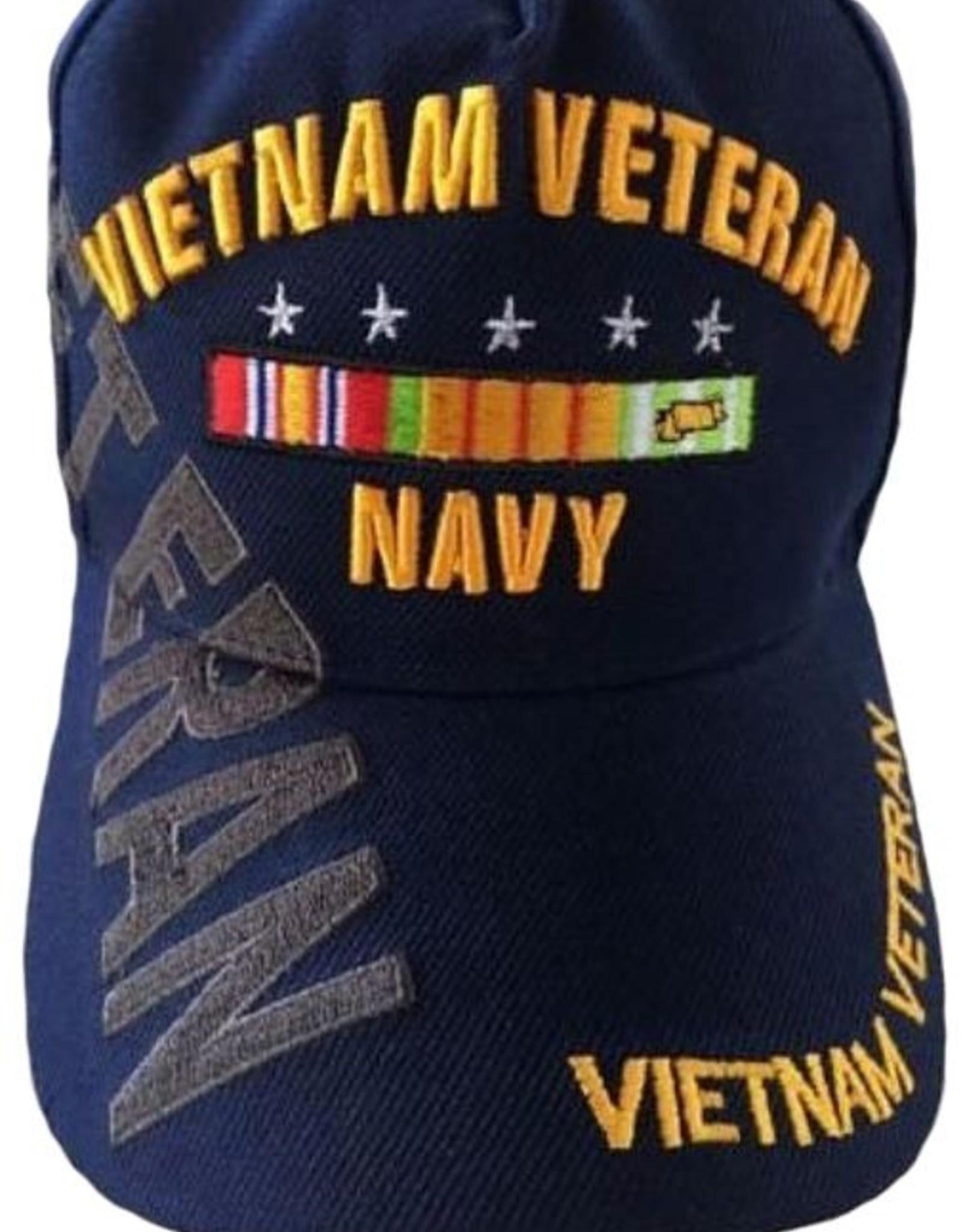 MidMil Vietnam Veteran Navy Hat with Over Shadow Dark Blue