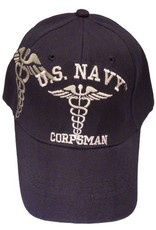 MidMil Navy Corpsman Hat with Emblem and Shadow Dark Blue