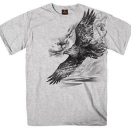 MidMil Pencil Sketch Eagle T-Shirt Grey Heather
