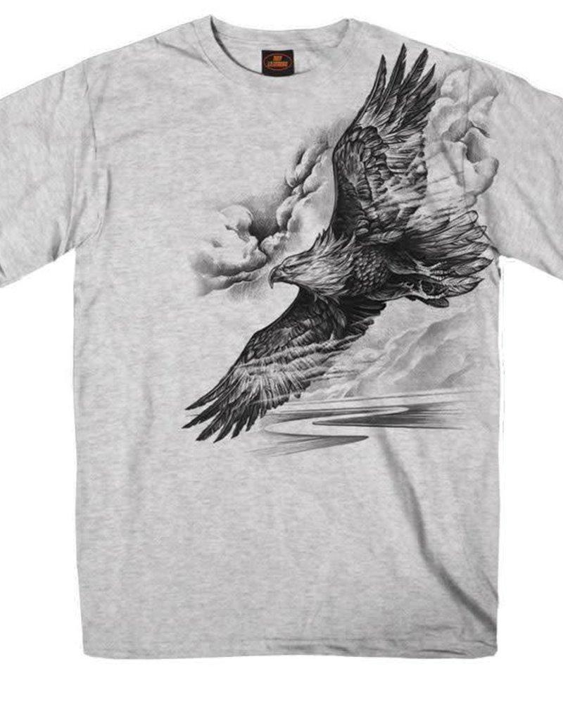 Pencil sketch eagle t shirt grey heather