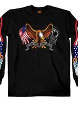 MidMil American Flag / POW*MIA Flag Eagle T-Shirt LS