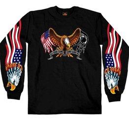 American Flag / POW*MIA Flag Eagle T-Shirt LS