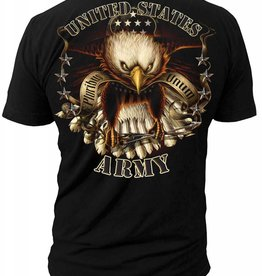 MidMil Army Striking Eagle T-Shirt Black