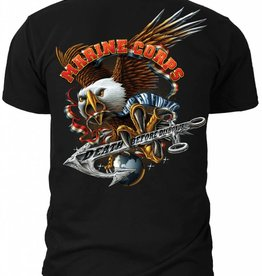 "MidMil Marine Corps Striking Eagle ""Death Before Dishonor"" T-Shirt"