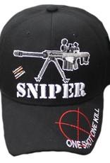 MidMil One Shot One Kill Sniper Hat with Barrett Rifle Black