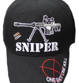 MidMil One Shot One Kill Sniper Hat with Barrett Rifle Black
